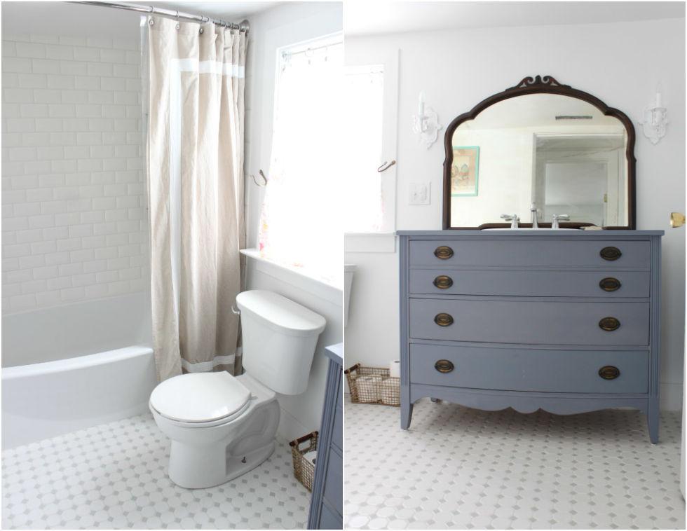White Octagon Bathroom Tile Brightpulse Us