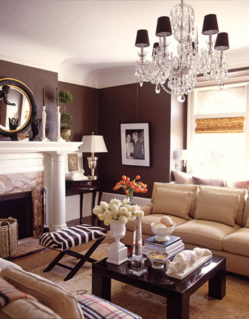 chocolate brown walls living room brown home decor ideas by demattei and wade 20001