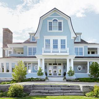 Blue House Paint Fabulous Navy White Trim What Color